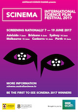 Poster for SCINEMA International Science Film Festival 2017
